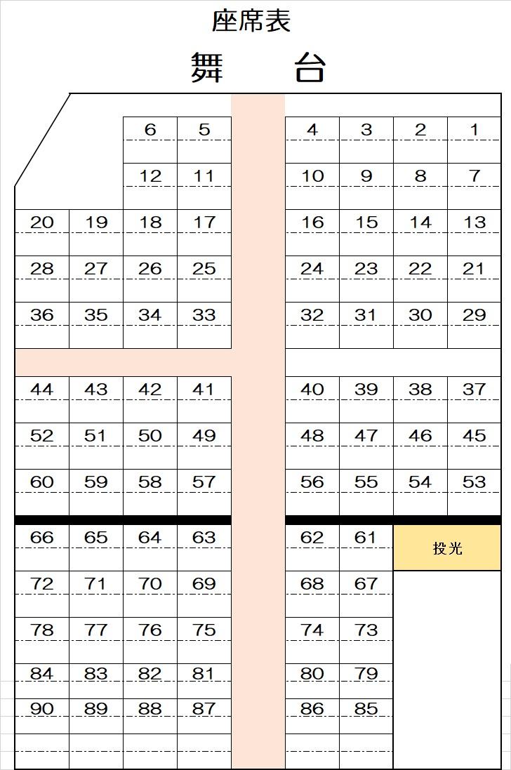 コロナ対策座席表